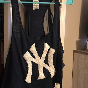Victoria's Secret PINK Yankees Tank Top